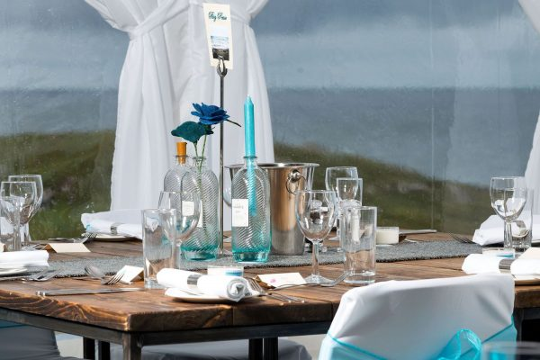 Rustic wedding venue Isle of harris gin