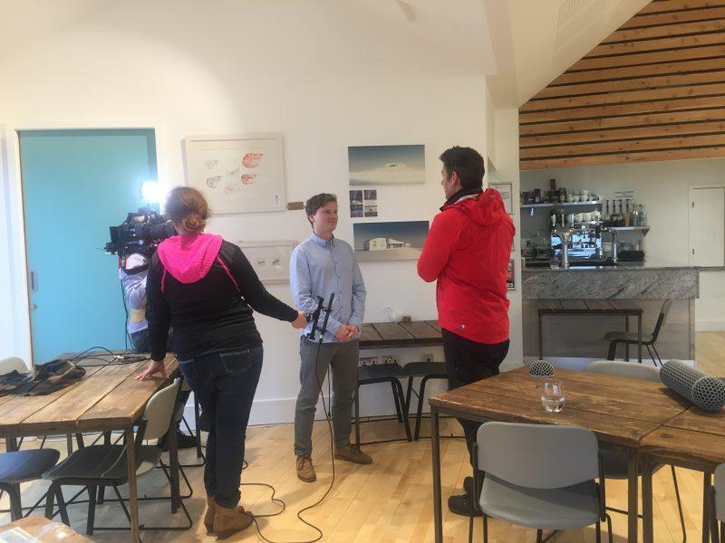 Dougie Vipond interviewing Mark Crichton
